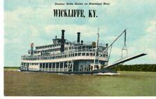 Steamer Delta Queen on Ms River, Wickliffe, Ky Postcard
