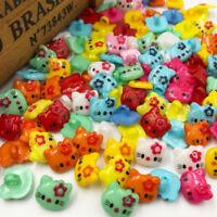 50/100/500pcs Mix Cat Plastic Buttons Sewing Button DIY Crafts PT45