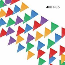 400 Pcs  Flag Banners,500 Ft Multicolor Banner