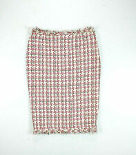 Karen Millen pink cotton tweed contemporary pencil skirt