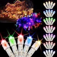 10m 100 AMPOULES LED Sapin de Noël Fée Mariage Fête Guirlande lumineuse Décor