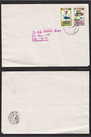 Bhutan 1986 Cover 1974 UPU Air Mail Stamps Surcharge Overprint