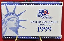 1999-S Proof Set United States US Mint, COA - 9 Coin Set - Free Shipping