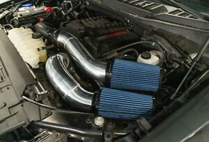 """Rudy's 4"""" Polished Oiled Cold Air Intake For 15-20 Ford F150 3.5 2.7 EcoBoost V6"""