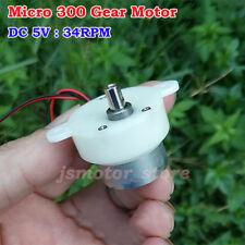 DC 3V 5V 34RPM Slow Speed Mini Worm Gear Motor Speed Reduction Gearmotor DIY Toy
