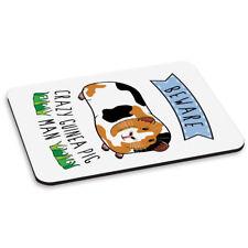 Beware Crazy Guinea Pig Man PC Computer Mouse Mat Pad - Funny Animal