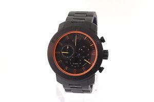 Men's Movado 3600190 BOLD Black Titanium black and Orange Chronograph Dial Watch