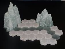 Heroscape Terrain- Mini Tundra Set B - Glaciers, Snow, Ice- Expanded Battlefield