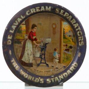 Vintage 1906 DE LAVAL CREAM SEPARATOR Advertising Tip Tray