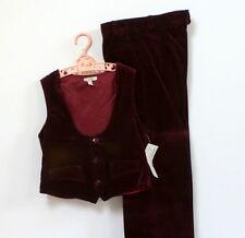 Costume 2 pièces vintage velours bordeaux - 8 ans