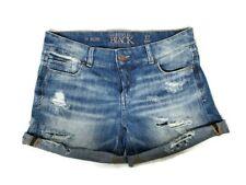 Buckle Black Fit No. 256 Boyfriend Stretch Shorts Destroyed cuffed Women Size 27