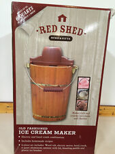 Red Shed Old Fashioned Ice Cream Maker 6 Qt. Electric Or Hand Crank Recipes