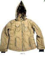 Obermeyer Women Winter Faux Fur Hooded Ski Snowboard Jacket Coat Size 8 :TT
