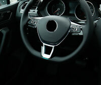 For VW Volkswagen Golf 7 Mk7 2013-2018 ABS Car Steering Wheel Cover Sticker Trim