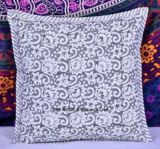 Indian Handmade Ethnic Block Printed Floral Cushion Cover Throw Pillow Case