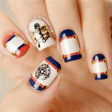 1 Sheet Nail Art Water Stickers Decals Transfer Decoration Compass Anchor
