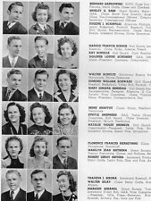 1942 Chicago Harrison Tech High School Yearbook~Photos~History~Football~WWII~++