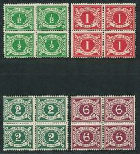 Ireland 1922 1925 postage due J1-J4 PD1-PD4 blocks of 4 2p WM inverted MNH $2350