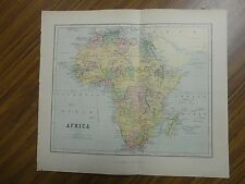 Nice color map of the Continent of Africa.  Printed 1888.  Chambers Antique Map.
