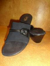 Womens Aerology Black Geneyes Sandals Casual Wedge Fashion Shoes SZ 9 Aerosoles