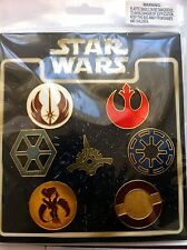 Disney Pin Collection Star Wars Emblems -Complete 7 Pin on original card