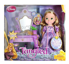 NEW Disney Tangled Toddler RAPUNZEL Doll with Enchanted Sound &  Light Vanity