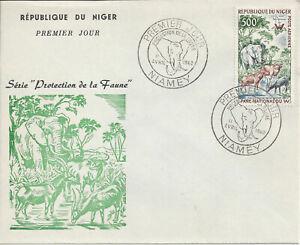 NIGER - ENVELOPPE 1er JOUR - Protection  de la Faune - Yvert PA 18 - ANIMAUX