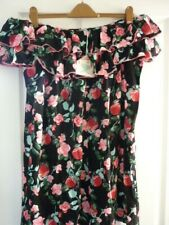 FLOOZIE by FROST FRENCH BLACK FLORAL MINI DRESS. UK 16-18, EUR 42-46, US 12-14.