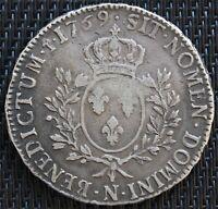LOUIS XV ECU AU BANDEAU 1769 N MONTPELLIER