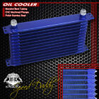 12-row 10an Full Aluminum Enginetransmission Cooling Racing Oil Cooler Kit Blue