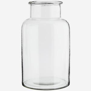 Giant Clear Glass Jar, Large Stem Bud Flower Bottle Vase, Storage, 20x34cm MS