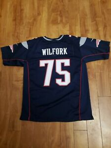 Nike New England Patriots # 75 Wilfork Jersey Youth size L 14/16