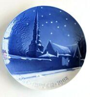 BING & GRONDAHL 1908 Christmas Plate B&G Saint Petri Church, Copenhagen
