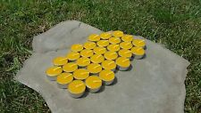 30 Hand Poured Beeswax Tealight Candles, All-natural Cotton Wick, Aluminum Cups
