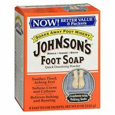 Johnson's Foot Soap Powder Packets 8 Each by Johnson's