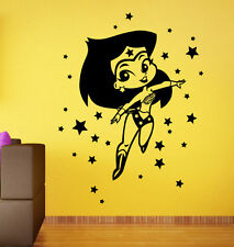 Comics Girl Superhero Wall Decal Wonder Woman Vinyl Sticker Atr Murals Decor (9)