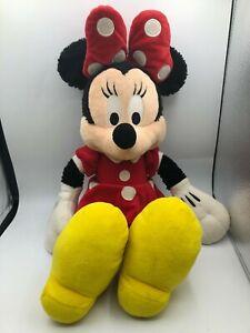 Large Walt Disneyland Disney World Minnie Mouse Mickey Plush Stuffed Toy Animal
