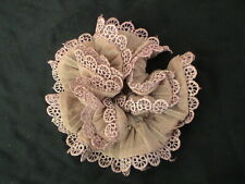 LIGHT DARK FALLOW-COLORED SPARKLY CUTE LACED SCRUNCHIE