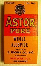 Vintage ASTOR WHOLE ALLSPICE Spice Box - NOS