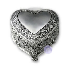 """Play """"Brahm's Lullaby"""" Alloy Heart Shape Music Box With Sankyo Musical Movement"""