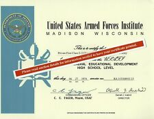 Military Armed Forces Institute Ged Diploma Army Navy Marine Air Force Uscg