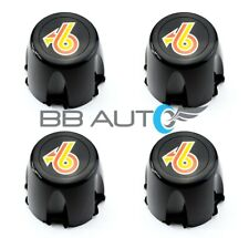 NEW 1986-1987 BUICK REGAL GRAND NATIONAL Turbo 6 Black Wheel Hub Center Caps Set