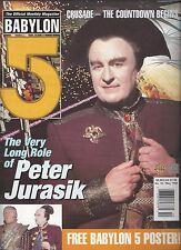 Babylon 5 Official Magazine Vol 2 #10- British-Peter Jurasik/Poster