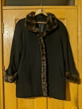Ladies Wool and Cashmere coat with faux fur trim uk size 18. New without tags.
