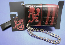 NWT ICP Hatchetman INSANE CLOWN POSSE Black and Red TRIFOLD Chain WALLET
