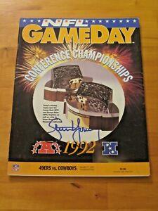 Steve Young #8 signed San Francisco 49ers HOF NFL GameDay Magazine JSA