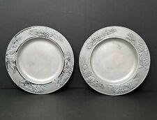 "Set of 2 Vintage Carson Industries Statesmetal Pine Ridge 8"" Salad Plates"