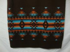 Pendleton Women's Long Knit Skirt Small Brown Merino Wool Southwest Blanket