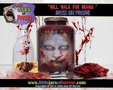 Zombie Monster -Head in Jar- Halloween/Horror Prop/Decor-  Fresh Red Version