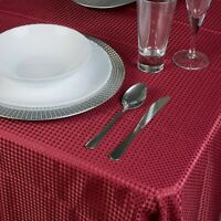 Damask Burgundy Jacquard Tablecloths Rectangle Table Cloth Tableware Dining